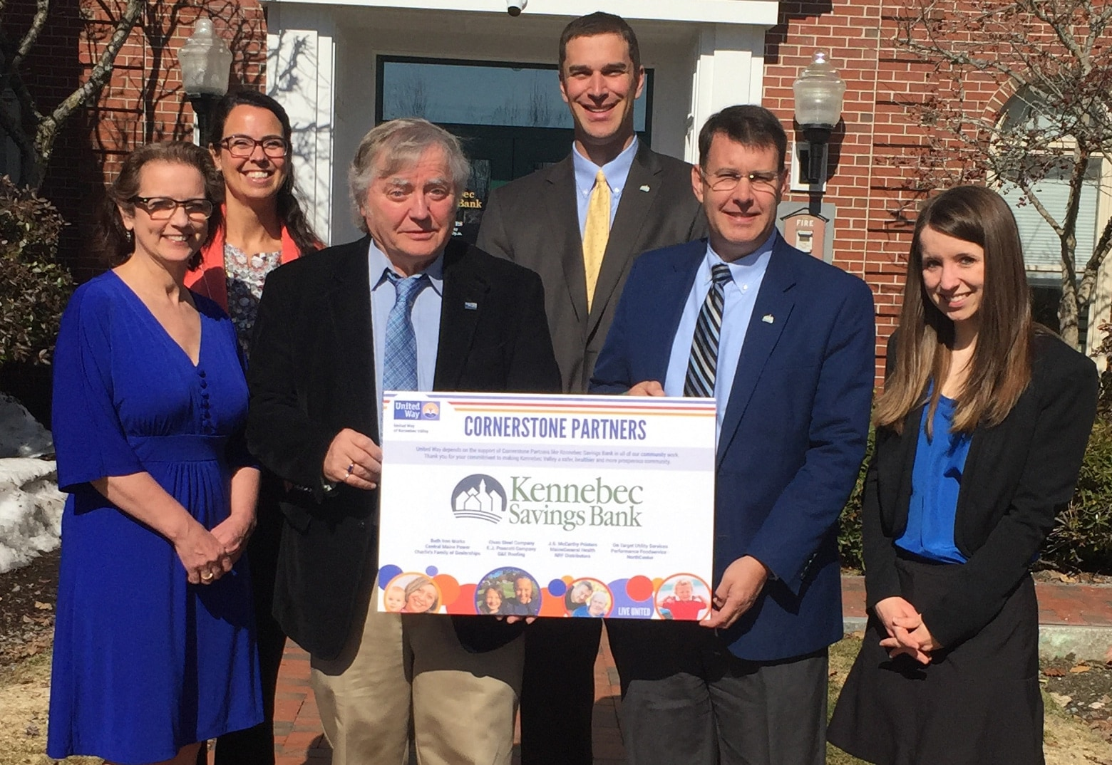Kennebec Savings Bank staff presented with recognition poster
